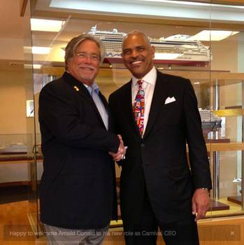File Micky Arison & Arnold W. Donald: Photo courtesy of Carnival