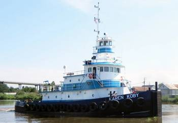 File M/V Karen Koby, was fitted with twin ABS-certified S12R-Y2MPTK Mitsubishi engines