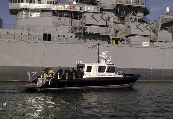 File M1-46 Catamaran Dive Boat: Photo credit Los Angeles Police Dept.
