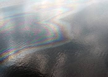 File The oil sheen: Photo courtesy of NOAA