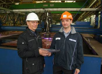 File Dmitrii Malofeev (RMRS) and Walter Schölzig, Project Manager at Nordic Yards