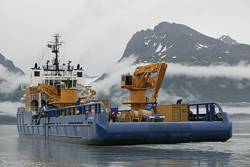File The Nanuq was outfitted with oil-spill-response capabilities well before the 2010 Macondo spill in the Gulf, he noted. The Aiviq is designed to work in tandem with the Nanuq. (Photo Courtesy Shell)