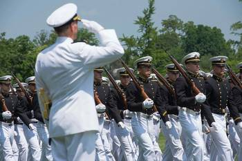 File ADM Greenert at march-past: Photo USN