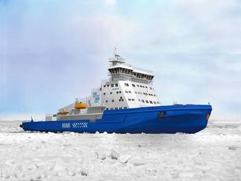 File Rendering of the icebreaker courtesy of Wärtsilä