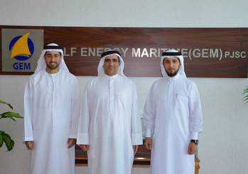 File (L-R): Mr. Khalifa Abdulla Al Romaithi, new chairman of GEM; Mr. Saeed Abdulla Khoory; current chairman of GEM; and Mr. Ahmed AL Falahi, CEO of GEM.
