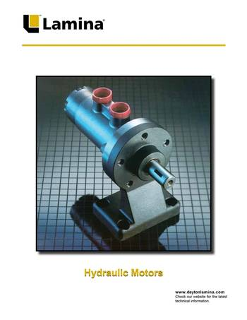 Hydraulic motors from dayton lamina for Dayton gear motor catalog