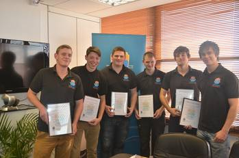 File From left to right: Troy Melling, Ralph Williams, Joe Stafford, Scott Pitman, Martyn Berrington and Ronan Conway.