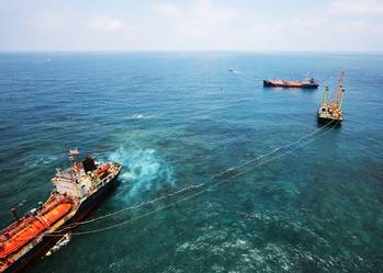 File Photo: the wreck removal of  the freighter LPG OBERON  from the Taiwan Strait.
