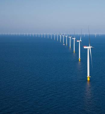 File An offshore wind farm: Image courtesy of Siemens