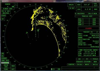 File screen shot of the radar software