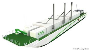 File 3D Illustration of the LNG Hybrid Barge