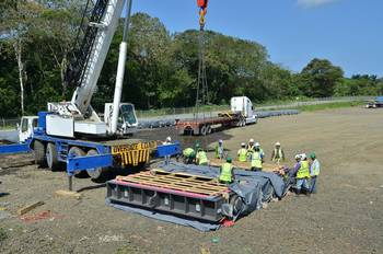 File Panama Canal Lock Equipment Arrives: Photo credit PCA