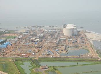 File New LNG Terminal: Photo courtesy of Petronet
