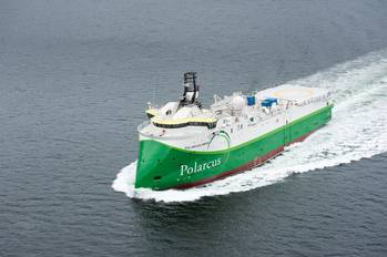 File Seismic vessel Polarcus Amani was delivered from ULSTEIN on March 29 (Photo: Ulstein).