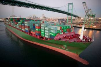 File Port of Los Angeles container ship: Image courtesy of the Port