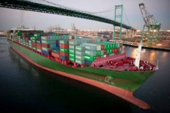File Container ship: Image courtesy of Port of LA