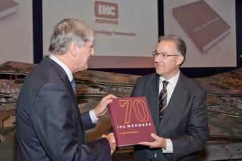 File Jubilee Book being presented