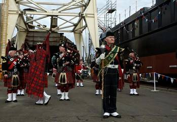 File Scots Pipers at Launch: Image credit Marcon