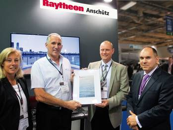 File Handover ceremony of a certificate about the 15,000 Standard 22 during Posidonia 2014