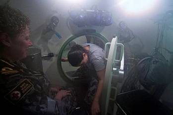 File Submarine escape excercise: Image courtesy of RAN