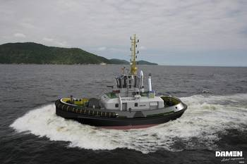File Rendering of the new RSD CNG Tug (Image courtesy of Damen)