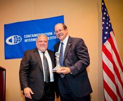 File Allen Clifford (left) with Connie Award recipient Richard Steinke (right), Executive Director Port of Long Beach