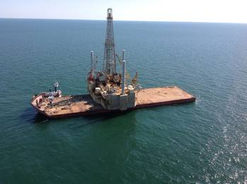 File The Jack-up Rig: Photo credit Inland Salvage Inc.