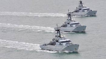 File RN River-class patrol boats: Photo credit BAE