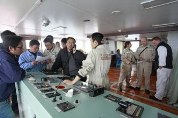 File Three parties working together during sea trials (Photo: Jia Ming)