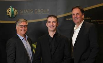 File STATS Group CEO, Pete Duguid, Carl-Petter Halvorsen and Dave Shand