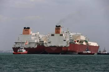File Ship to ship LNG transfer: Photo courtesy of Qatargas