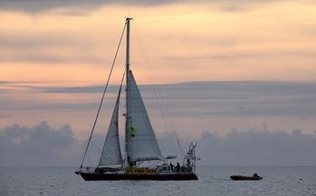 File SV Tiama: Photo credit Greenpeace NZ