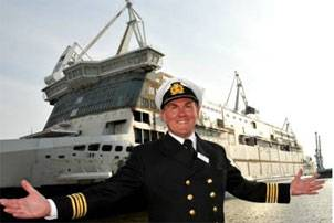 File Captain David Miller, Senior master of the Spirit of Britain, will later this year welcome passengers onboard P&O