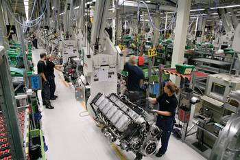 File Scania builds every engine specifically to a customer's individual order.  Quality is a primary focus and any member of the production team is empowered to stop the production line if something is not right.