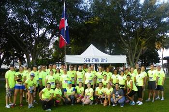 File Sea Star's Runners and Volunteers at the Wounded Warrior 8K Race in Jacksonville, Florida