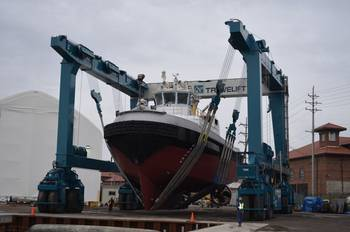 File Travelift Hull 9201: Photo credit Great Lakes Shipyard