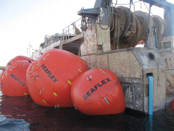 File Seaflex buoyancy systems in action.