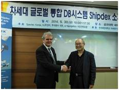 File From left: Marco Vatteroni, SpecTec's ILS Manager and Shipdex Manager, and Yung-Ho Yu, Professor at KMU and Technical Director of MEIPA.