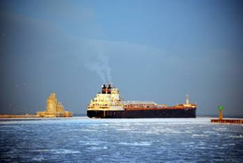 File Ship entering: Photo courtesy of Port of Cleveland
