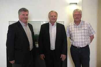 File (left to right), Norrie McVicar, ITF OTFG chair; Christian Lefèvre, Bourbon CEO; and Marcel Tanguy, adviser to the general secretary of the CFDT