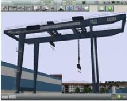 File Simulated shipyard crane
