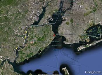 File Map Showing Arthur Kill Pollution Sites: Image credit NOAA