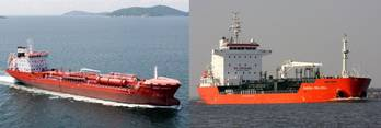 File The two consfiscated tankships: Photo credit Stena Oil