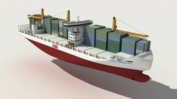 File fuel efficient 2000 TEU Container Feeder Vessel