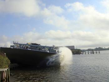 File TY Barge Launch: Photo credit TY Offshore
