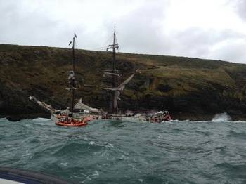 File Rescue Scene: Photo courtesy of RNLI