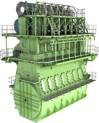 File The MAN B&W G60ME-C engine will satisfy IMO environmental standards as well as the shipowners