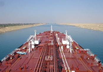 File A Teekay tankship in Suez transit: Photo courtesy of Teekay Tankers