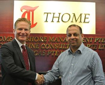 File (Left-Right) Stephen Alexander, COO and Secretary General of IMPA with Ryan Dalgado, Procurement and Supply Chain Manager of Thome Ship Management.