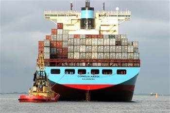 File Maersk Container Ship: Photo credit Port of Gothenberg